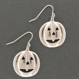 Carved Pumpkin Earrings