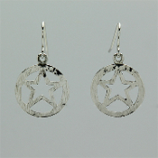 Texas Ranger Star Earrings