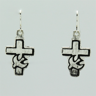 Cross Dove Earrings