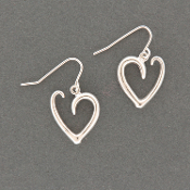 Heart Scroll Earrings