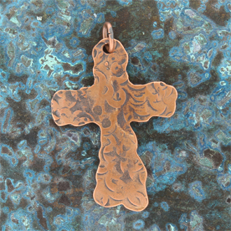 Copper Cross Pendant 4