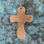 Copper  Cross Pendant 3