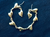 Dripping Hearts Bracelet/Earring Set